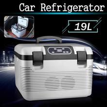 19L Mini lodówka samochodowa zamrażarka ogrzewanie DC12-24V AC220V lodówka Icebox kompresor przenośny do samochodu domu chłodnica na piknik cieplej tanie tanio Partol NONE CN (pochodzenie) 00inch 16L i = = 20L 12 v -5~65 Degrees