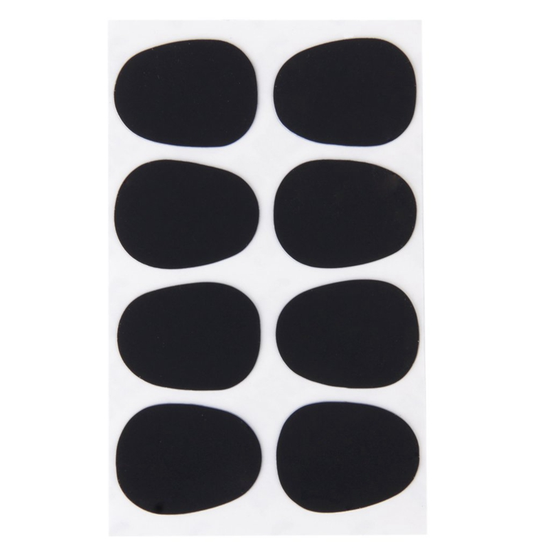 8pcs Alto/Tenor Saxophone Sax Mouthpiece Patches Pads Cushions Black---0.3mm