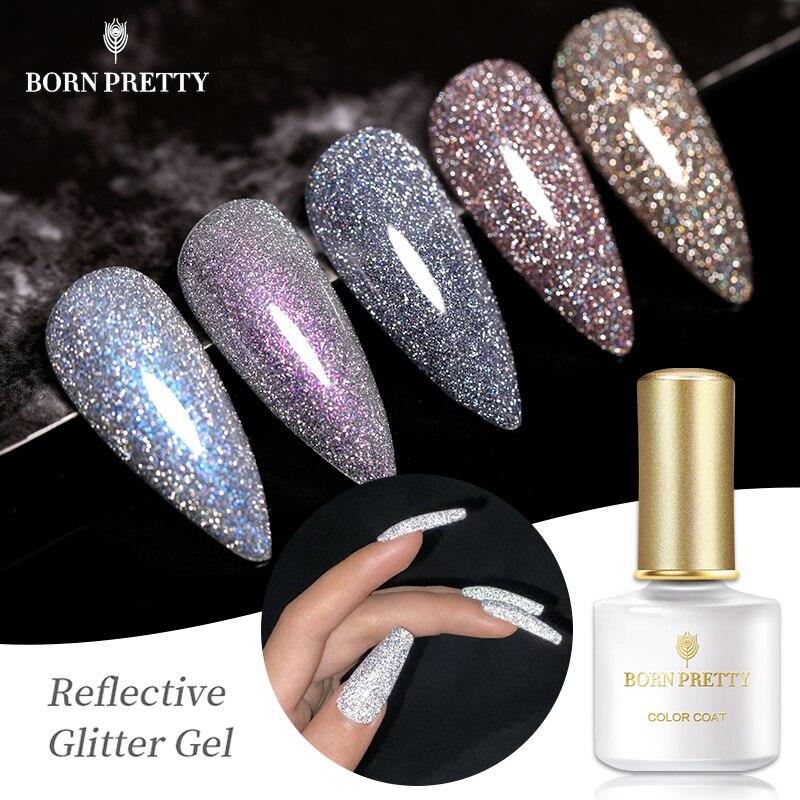BORN PRETTY светоотражающий Блестящий Гель-лак для ногтей Auroras дизайн ногтей голографический эффект отмачиваемый УФ-гель для дизайна ногтей 6 мл