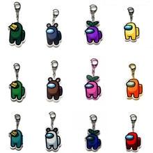 1 pçs jogos quentes entre os eua chaveiro acrílico colorido presente de natal chaveiros para chaves do carro acessórios de decoração