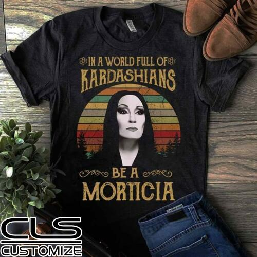 Vintage Retro T-Shirt WWMD What Would Morticia DO-