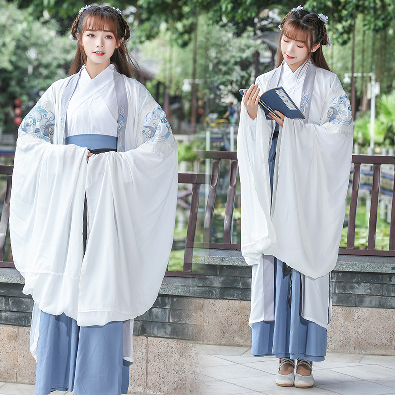 Women Hanfu Ancient Chinese Folk Dance Costumes Adult Chinese National Stage Cospaly Tang Clothing Stage Performance Wear DN4133