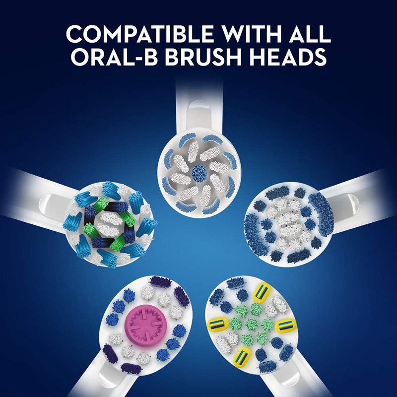 Oral B Pro600 Plus Rechargeable Electric Toothbrush Rotating Oral Hygiene 3D Replaceable Crossaction Electric Tooth Brush Head