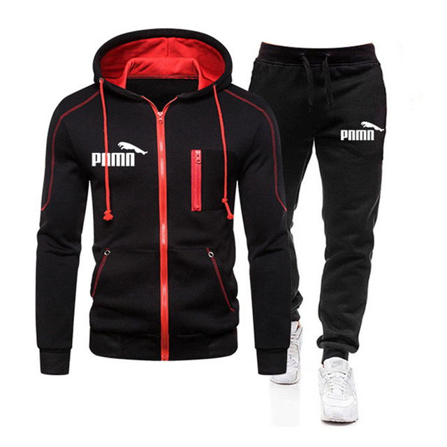 Two Piece Tracksuit Set for Men, Sportswear for Men, Hooded Jacket and Pants, Tracksuit, Men's Clothing,  Plus Size S-3XL 2