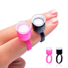 50pcs Tattoo Supply Ring Cups Tools Microblading Pigment Holder Permanent Makeup Disposable Ink With Sponge For Sale