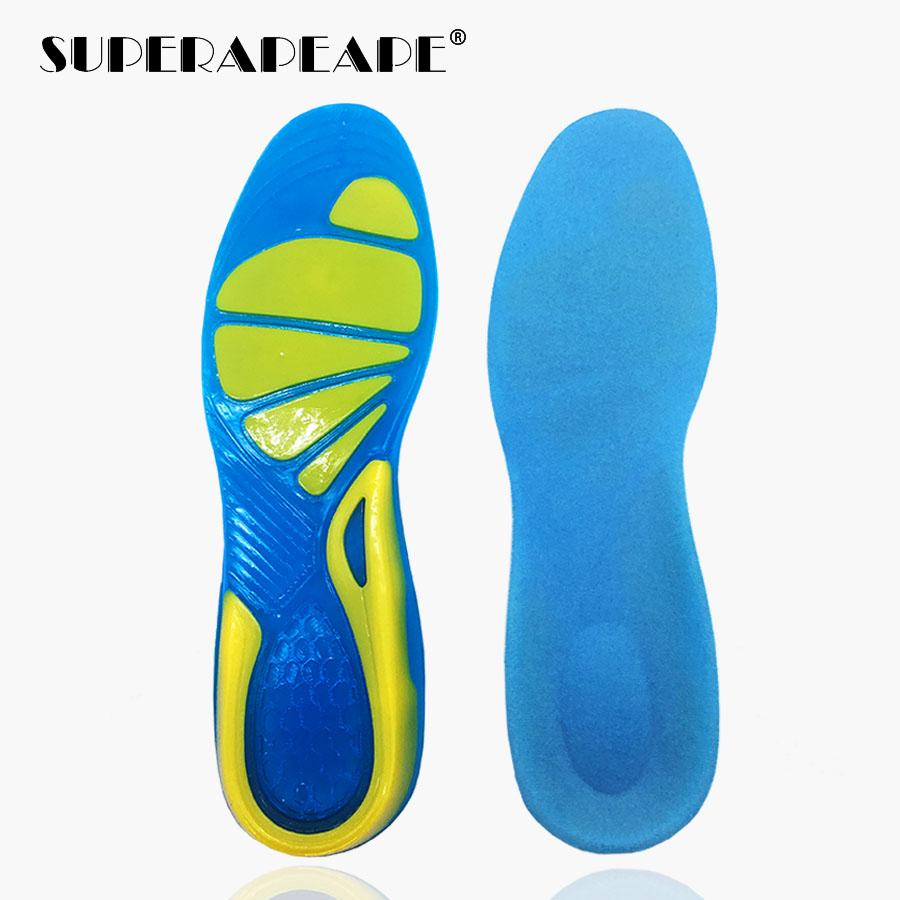 Silicone Gel Insoles Foot Care for Plantar Fasciitis orthopedic Massaging Shoe Inserts Shock Absorption men sneakers woman shoes image