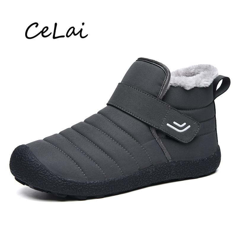2020 Waterproof Men Warm Ankle Boots Snow Shoes Woman Winter Boots Fur Plush Classic Male Casual Boot Sneaker Man Footwear A-094