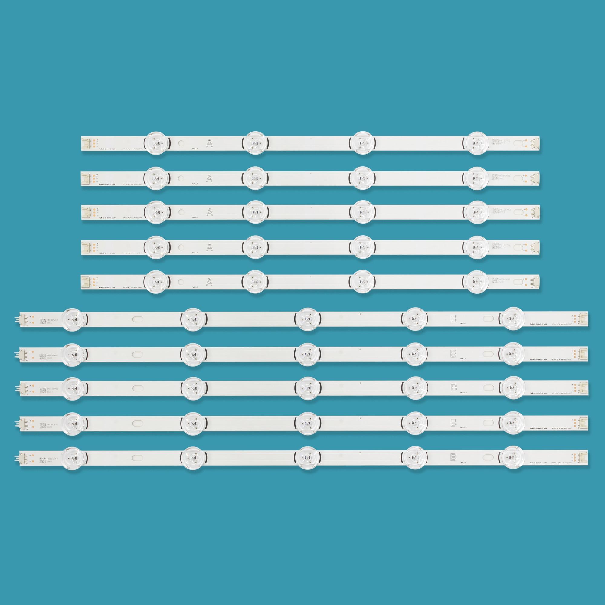 10pcs LED Strip For LG Innotek DRT 3.0 49