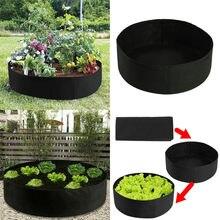 Flor vegetal caixa de plantio saco de planta levantada cama de plantas elevada caixa de plantio crescer saco de plantas caixa de jardinagem suprimentos preto