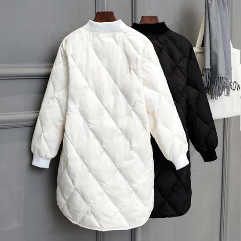 New Winter Long Womens Down Jackets Ultra Light White Duck Down Coat Oversize White Puffer Jacket Slim Autumn Parkas