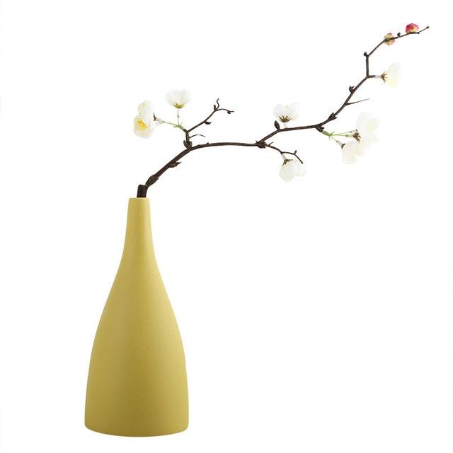 Originality vase decoration home Modern grind ceramic vases Tabletop ceramic vase home decoration accessories Blue gray black 6
