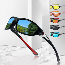 Luxo polarizado óculos de sol uma peça de pesca clássico óculos de sol condução dos homens tons masculino sunglass viagem vintage