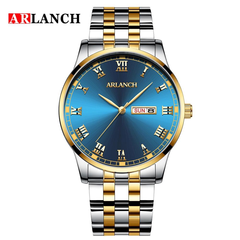 Модные Роскошные мужские часы деловые классические водонепроницаемые