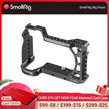 """SmallRig jaula de tiro para Vlog A6600, jaula para cámara Sony A6600 con soporte para zapata Fría/ANCI 3/8 """" 16, accesorio de Rosca 2493"""