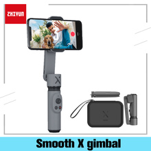 Zhiyun Glatte X Handheld Gimbal Stabilisator Handy Selfie Stick Vlog Anti schütteln Bluetooth Smart Für Xiaomi Huawei Samsung