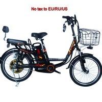 20 e 22 polegada bicicleta elétrica de aço carbono adulto e bicicleta 350w 48v motor 10/15/20ah bicicleta elétrica cidade ebike e bike|Bicicleta elétrica|   -