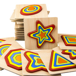 Creative Wooden Puzzle Jigsaw Color Shape Montessori Cognize Early Learning Educational Toys For Baby Kids Intelligence Develop