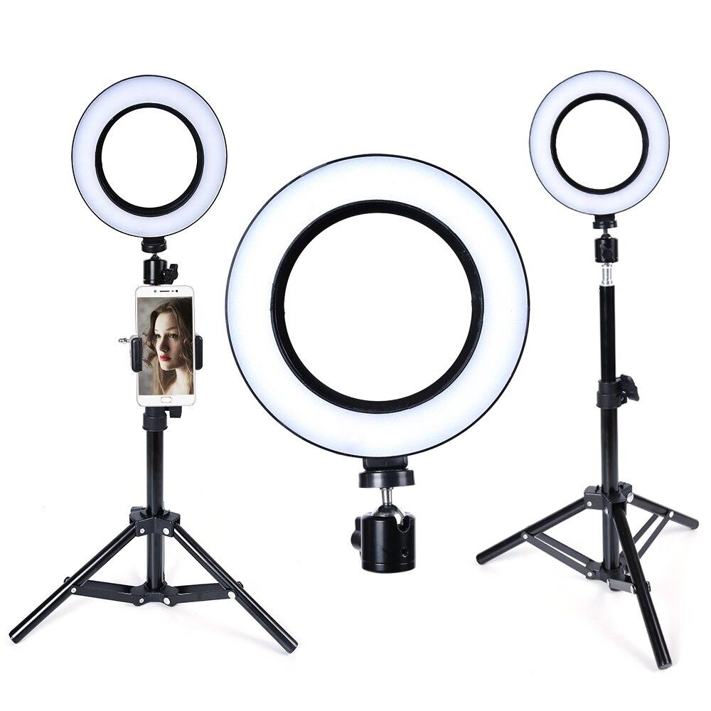 LED Ring Light 26cm Camera Ringlight Tripod Stand Phone Holder For YouTube Tiktok Photography Video Photo Studio Lamp Kit