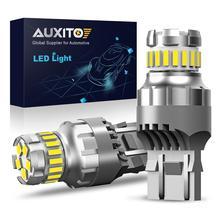 AUXITO 2x7443 7444 T20 W21/5 Вт Светодиодный светильник для Lada Kalina Granta Веста DRL светодиодный лампы 12V 6500K белый супер яркий 3030 4014 SMD