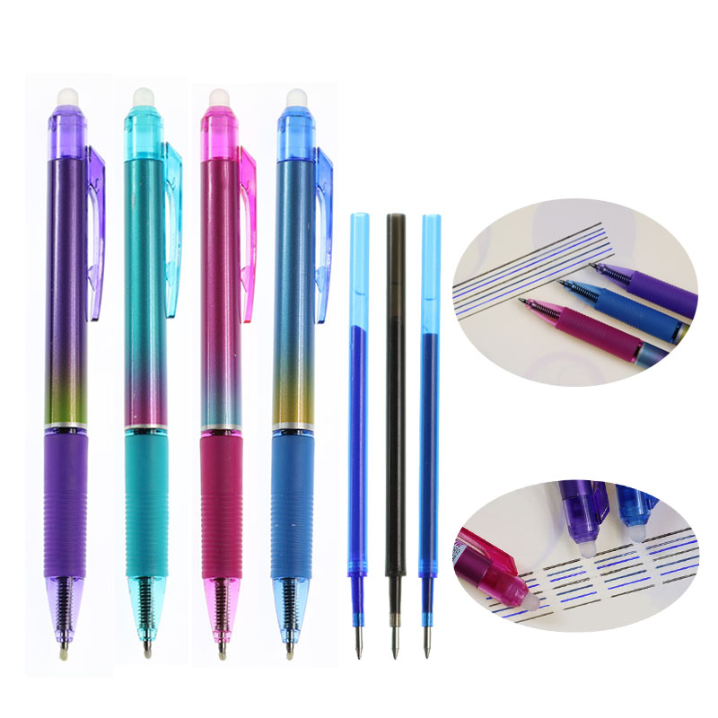 Exquisite Gradient Magic Erasable Pen Gel Pen 0.5mm Bullet Refill News Writing School Office Supplies Stationery Materials