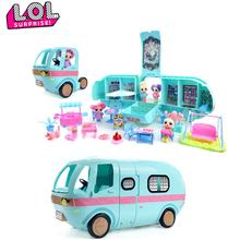 LOL niespodzianka lalka zabawka Camper samochód kombi OMG niespodzianka Box prezentacja DIY autobus figurka prezent dziewczyna zabawka dla dziecka urodziny tanie tanio L O L SURPRISE! Model Unisex 41*22 5 CM Pierwsze wydanie 6 lat 14 lat 5-7 lat 2-4 lat 3 lat 0-12 miesięcy 3 lat