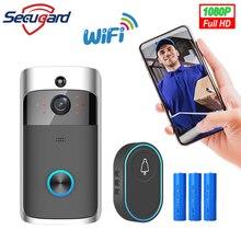Inteligentna kamera do drzwi frontowych SECUGARD Wifi połączenie bezprzewodowe interkom wideo-oko do mieszkań dzwonek do drzwi telefon bezpieczeństwo w domu kamery