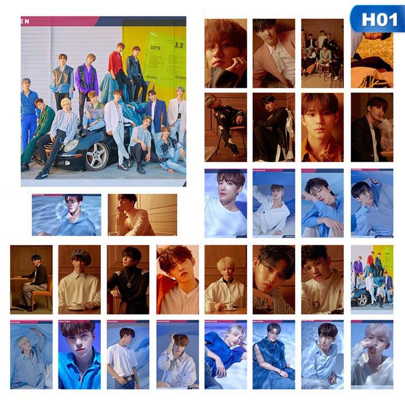 30Pcs/set SEVENTEEN IKON Photo Pictures Cards Boy LOMO Cards Self Made LOMO Pictures Photocard Fan Supplies