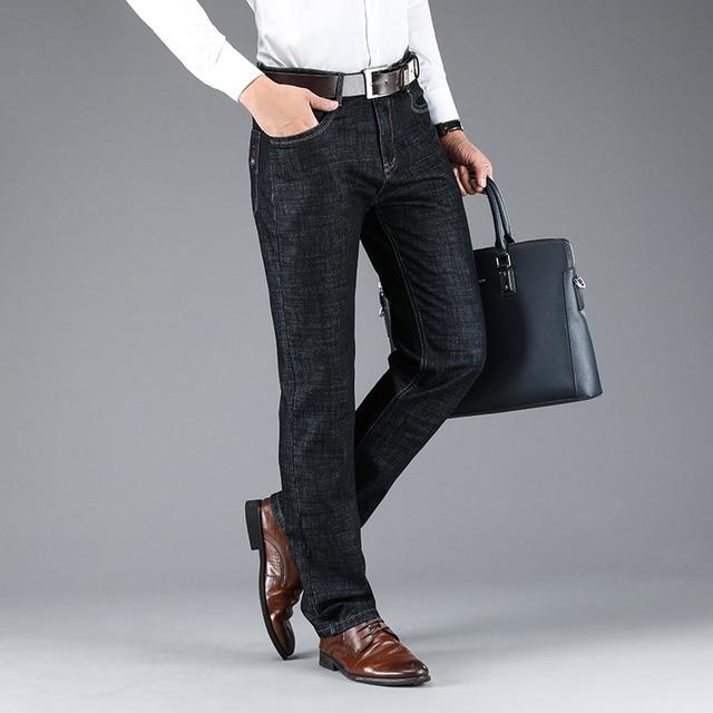 Men's Classic Business Denim Jeans 2