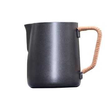 ROKENE non-stick dzbanek ze stali nierdzewnej dzbanek do spieniania mleka kafiatera do Espresso narzędzia baristy dzbanek do mleka Latte dzbanek do mleka tanie i dobre opinie STAINLESS STEEL Kawy Percolators Milk Frothing Jug Stainless Steel Jug Teflon is Non-Stick Pitcher Coffee Latte Milk Frothing Jug