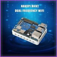 FriendlyARM NanoPi M4V2 4GB DDR4 Rockchip RK3399 SoC 2.4G & 5G dual band WiFi,Support Android 8.1 Ubuntu, AI and deep learning