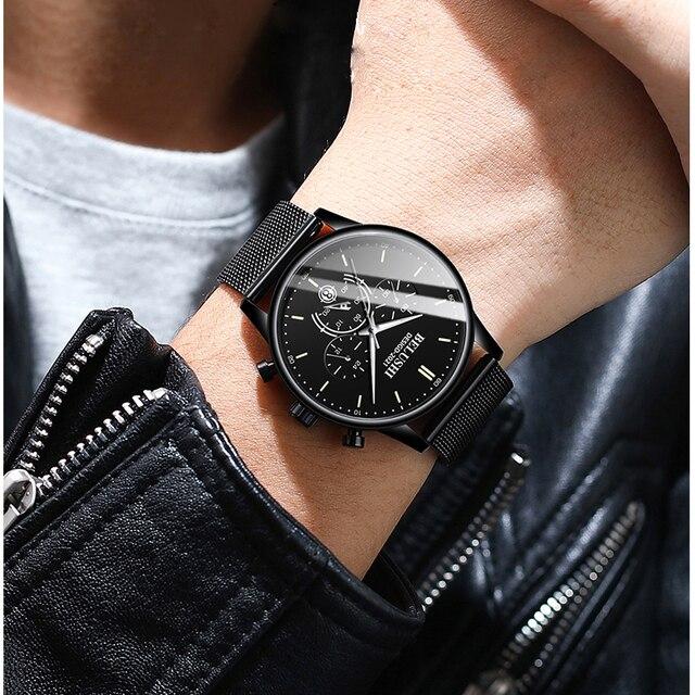 Купить часы наручные belushi мужские кварцевые модные роскошные брендовые картинки цена