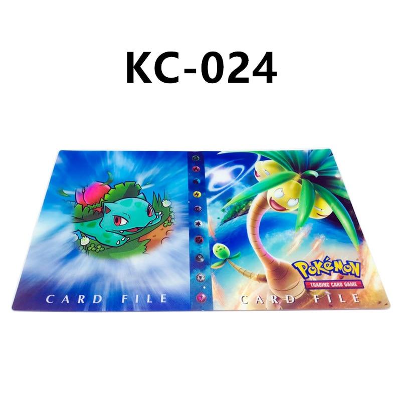 24 стиля Pokemon Cards альбом книга мультфильм аниме Карманный Монстр Пикачу 240 шт держатель альбомная игрушка для детей подарок - Цвет: KC-024