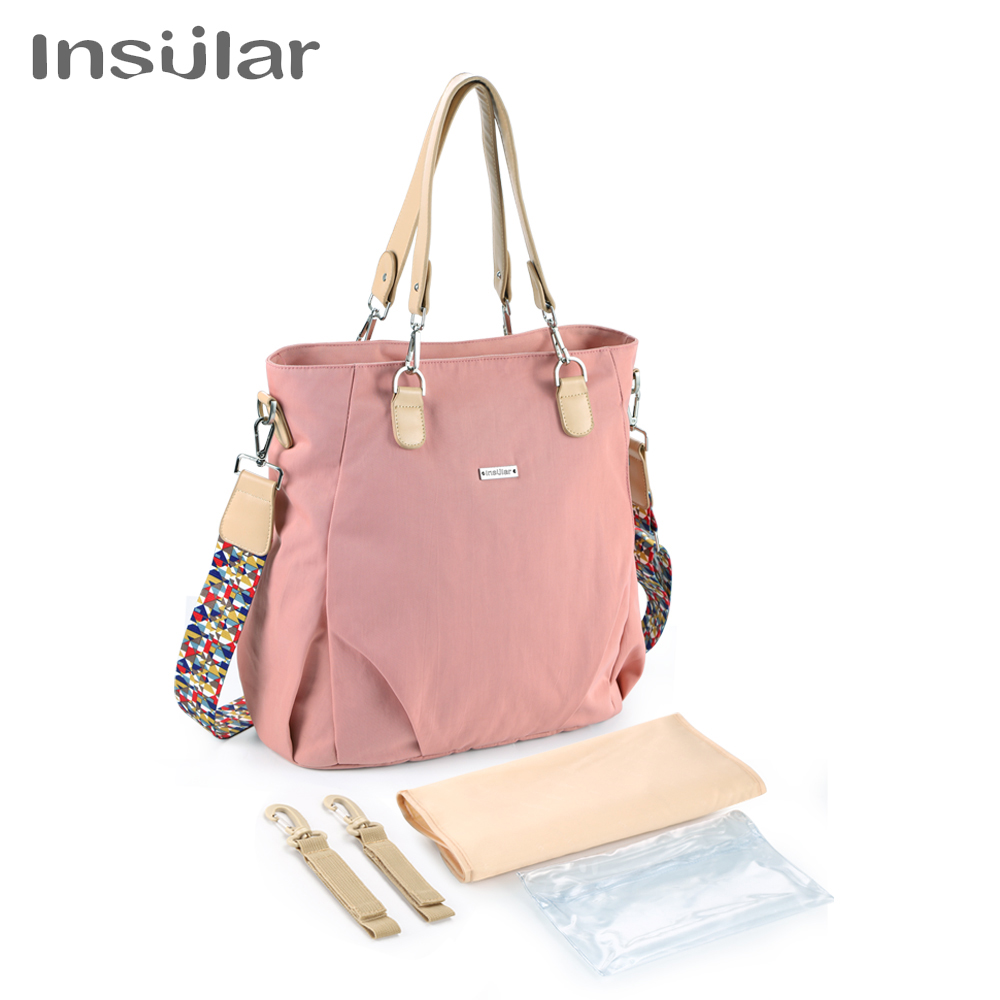 Insular Brand Elegant Diaper Bag Multifunctional Baby Nappy Changing Bag Style Mommy Stroller Bag Tote Diaper Bags For Baby Care
