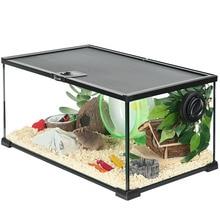 Hamster Glass Cage Anti-Jailbreak Anti-Bite Transparent Breeding Box Hedgehog Feeding  Golden Silk Bear  Storage