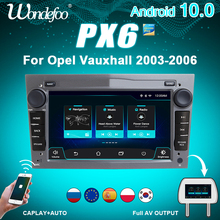 Central multimídia automotiva 2 Din PX6, Android 10, com rádio e áudio, para carros Opel Vauxhall Astra H G J Vectra Antara Zafira Corsa Vivaro Meriva Veda Combo