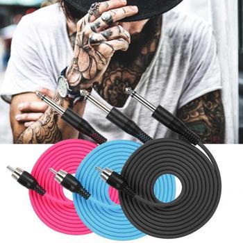Silikonowa linia do tatuażu na prosty interfejs RCA maszynka do tatuażu akcesoria zasilające tatuaż przewód zaciskowy giętki przewód