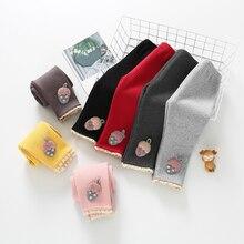 Зимние детские колготки; утепленные бархатные вязаные штаны; Штаны для новорожденных; леггинсы для малышей 0-24 месяцев