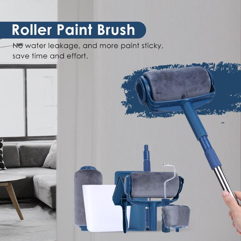 3/5/6/7/8 PCS Paint Roller Multifunctional Household Use Wall Decorative Paint Roller Brush Tool Painting Brushes Set