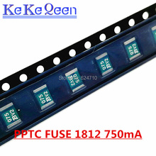 100PCS PTC RESET FUSE 13.2V 750MA 1812 MF-MSMD075-2 SMT SMD PPTC Resettable Fuse 50pcs mf msmf050 2 mf msmf050 ptc resettable fuse 0 5a 500ma 15v for bourns 1812