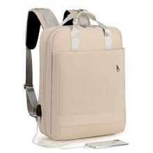 مكافحة سرقة حقيبة حقيبة السفر النساء كبيرة قدرة الأعمال USB تهمة الرجال محمول على ظهره 15.6 بوصة كلية طالب حقيبة مدرسية