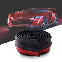 SPEEDWOW Universal Car Front Bumper Lip Spoiler Bumpers Splitter Body Kit Sticker Protector 2.5M 60mm Width