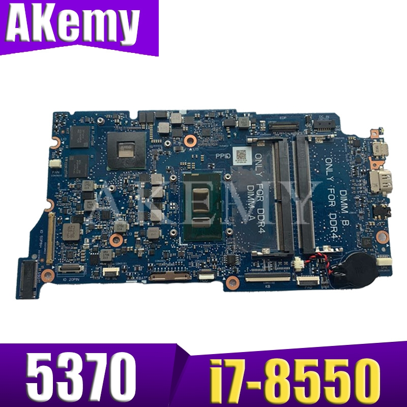 Akemy  ARMANI13 Mainboard FOR DELL Inspiron 5370 13-5370 Laptop Motherboard I7-8550U