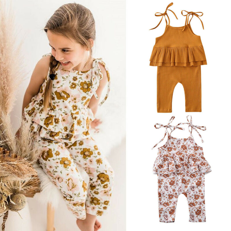 Summer Newborn Toddler Baby Boys Girl Romper Cotton Playsuit Bodysuit Outfits UK