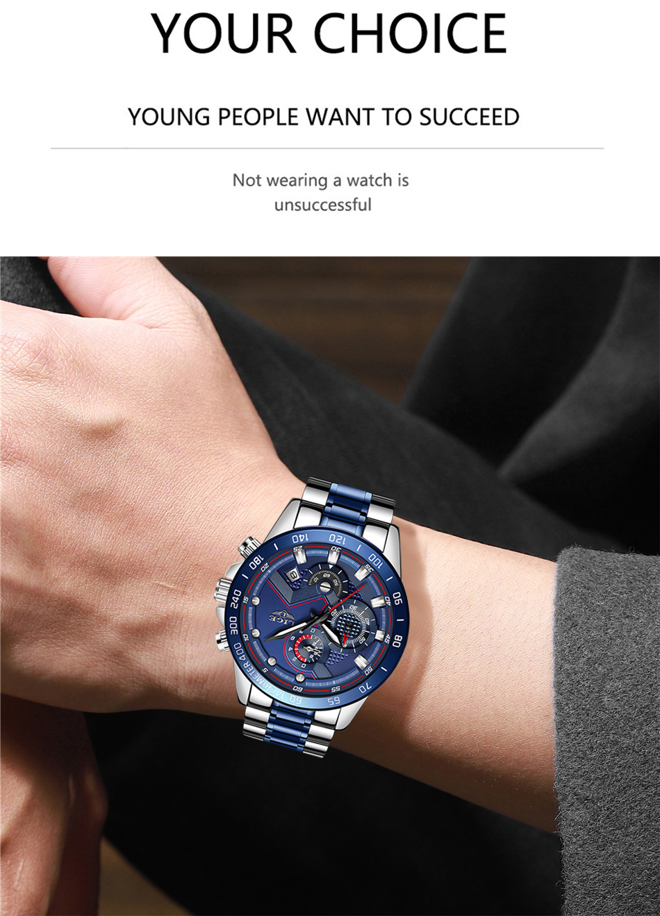 H6cfc21967b0e46dca53a4ed23ba8277ar Relogio Masculino LIGE Hot Fashion Mens Watches Top Brand Luxury Wrist Watch Quartz Clock Blue Watch Men Waterproof Chronograph