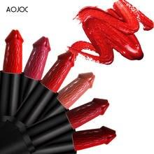 20 couleurs pénis forme rouges à lèvres champignon longue durée imperméable à l'eau Sexy mat rouge à lèvres hydratant maquillage Pigment cosmétiques