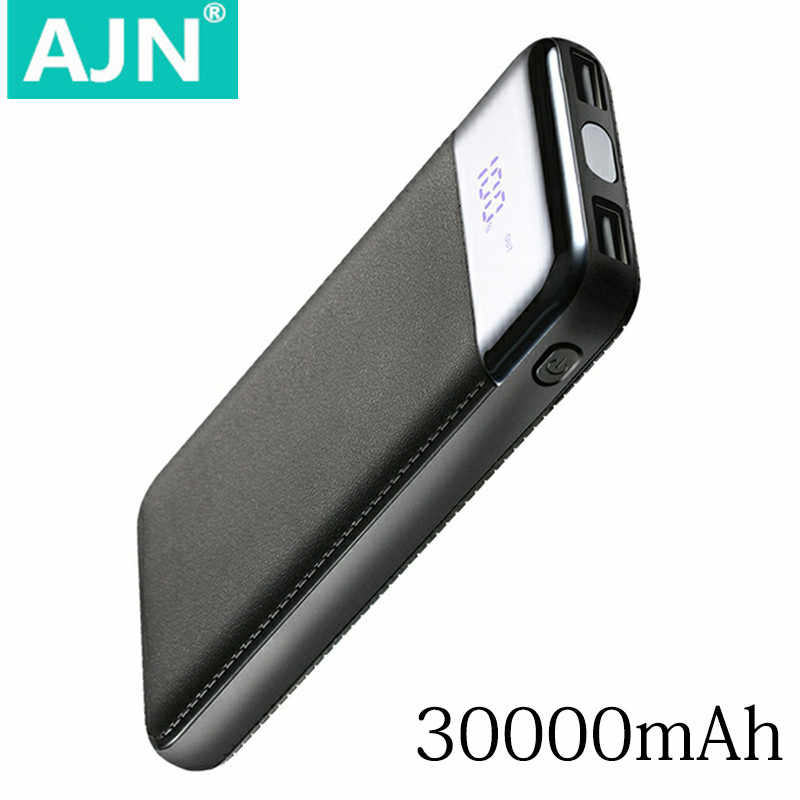 Hot 30000mah Power Bank External Battery PoverBank USB LCD Powerbank Portable Mobile phone Charger for Xiaomi MI iphone XS Max 8