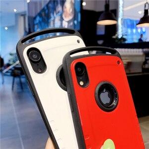 Image 4 - Chống Va Đập Cho iPhone 12 Mini 11 Pro Max X XR XS 7 8 Plus Chống Sốc Lưng Vỏ bao Da Cứng PC Silicone Hybrid Armor Coque