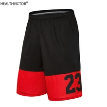 Quality Breathable Dry Fit Man Pockets Loose Male Knee Length Number 23 Summer Running Men Five Sports Basketball Shorts