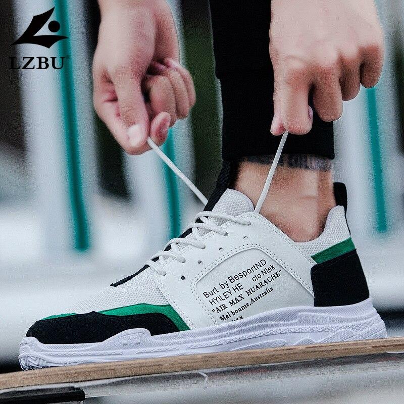 shoes men LZBU Shoes men 2019 new mesh shoelaces breathable soft sports casual shoes shoes Korean students trend wild tide shoes