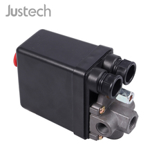 цены Justech Solid 90-120PSI Air Compressor Pump Pressure Switch Valve Control Heavy Duty Solenoid Valve